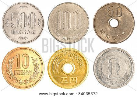 Japanese Yen Coins Collection