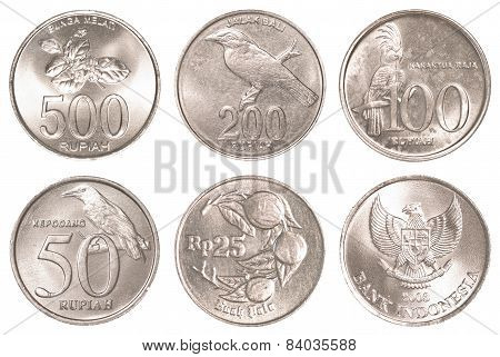 Indonesian Rupiah Coins Collection Set