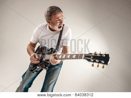 portrait of a guitar player