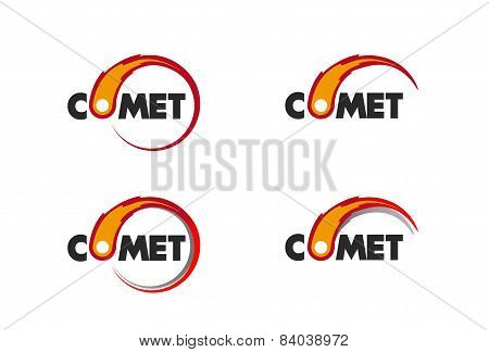 Comet flame burning up for business logo