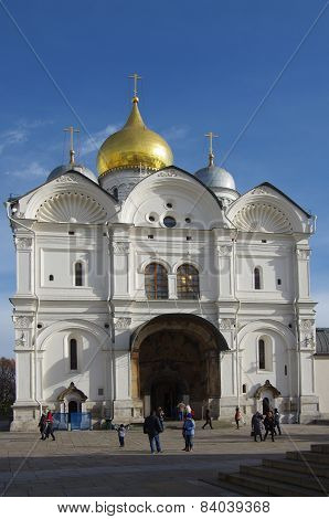 The Archangel Cathedral In The Kremlin, Moscow