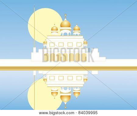 Gurdwara With Reflection