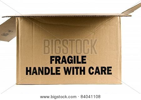 Opened Fragile Handle With Care Box