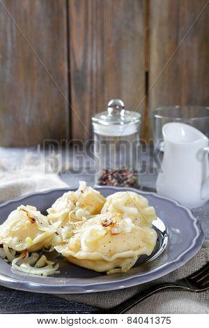 Delicious Pierogi On A Plate