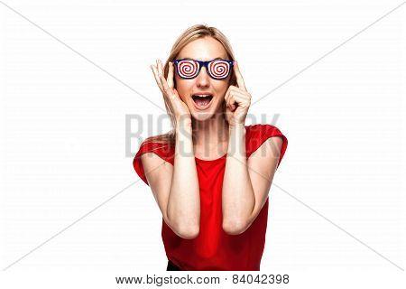 Party Girl In Funny Glasses