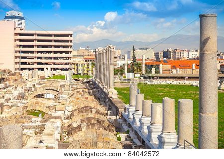 Ruins Of Ancient Smyrna In Modern Izmir, Turkey