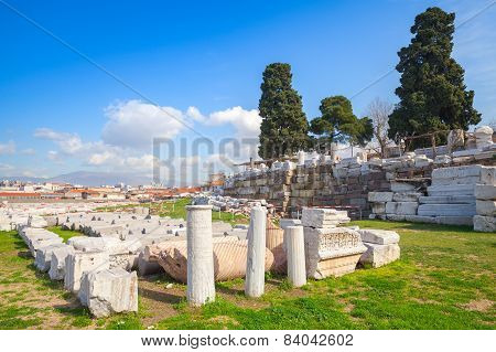 Ruins Of Ancient Smyrna. Izmir, Turkey