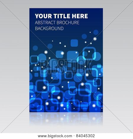 Blue Abstract Brochure Background