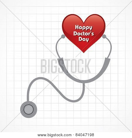 Creative National Doctor's Day Greeting stock vector