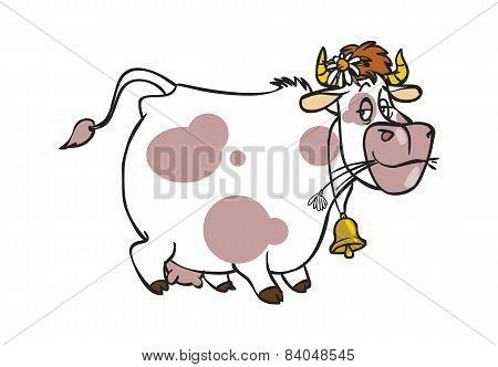 Funny Vector Cartoon Cow