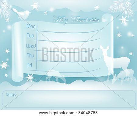 Winter School Timetable