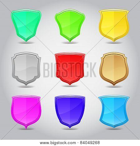 Shield label set. Vector illustration