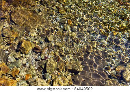 Clean Transparent Mountain Water