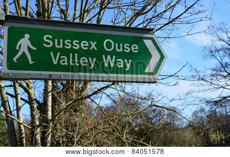 Sussex Ouse Valley Way sign