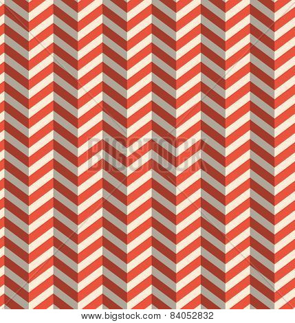 Seamless Retro Abstract Red Toothed Zig Zag Paper Background