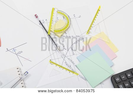 Drawing Tools With Compass And Calculator