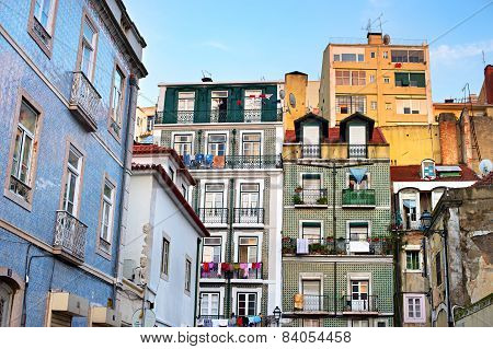 Alfama Architecture, Lisbon, Portugal
