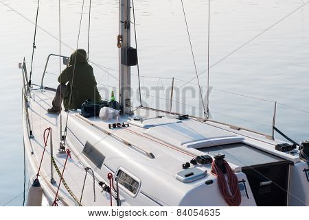 Leisure On A Sailing Boat