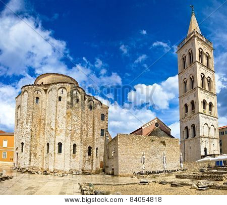 Zadar Cathedral Famous Landmark Of Croatia