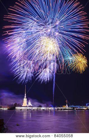 Firework in St.Petersburg