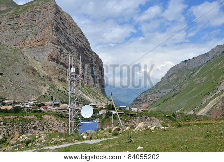 the stations of cellular communication in the mountains