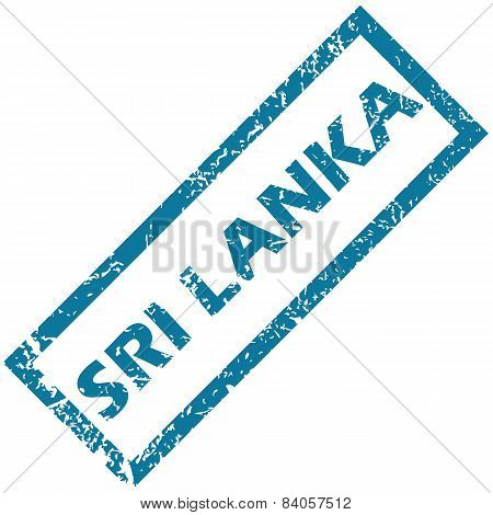 Sri Lanka rubber stamp
