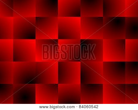 Abstract Red Square Decor