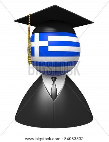 Greece college graduate concept for schools and academic education