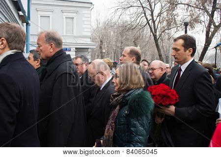 The Ambassadors Of The Eu Countries At The Funeral Of Boris Nemtsov