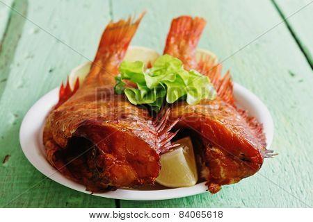 Smoked Sea Bass