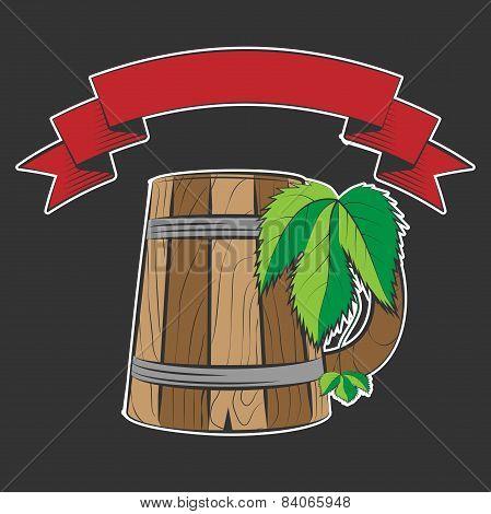 wooden beer cup