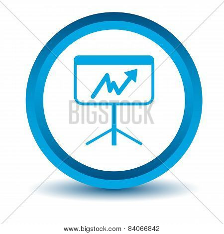 Blue new chart icon