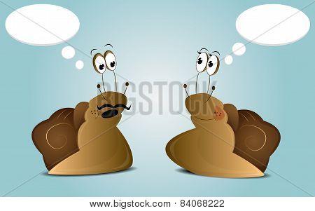Cartoon future snails family