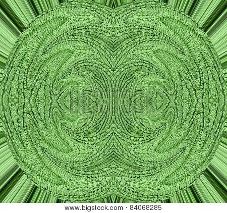 Decorative green knitting pattern