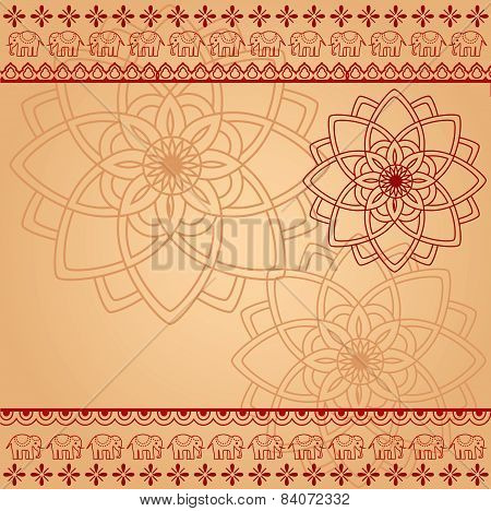 Red and cream Indian background