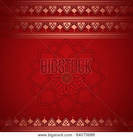 Red henna Indian background
