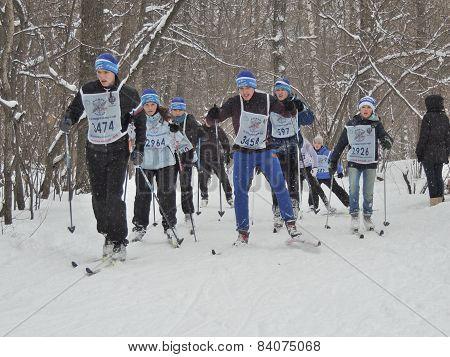 Skiers On The Ski Race