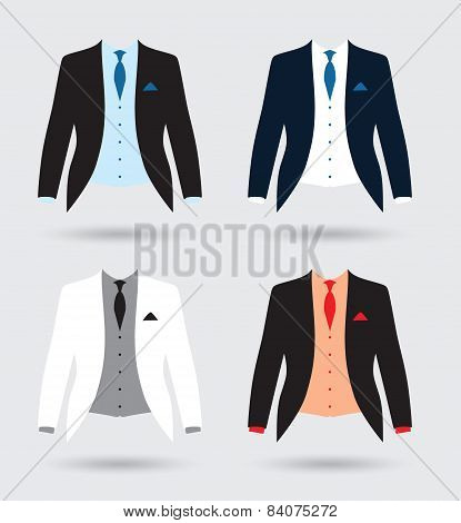 grooms suit jacket outfit set