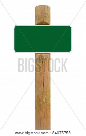 Green Metal Sign Board Signage Copy Space Background, White Frame Roadsign, Old Aged Weathered