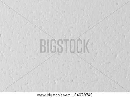 Background Of White Foamed Polystyrene Surface