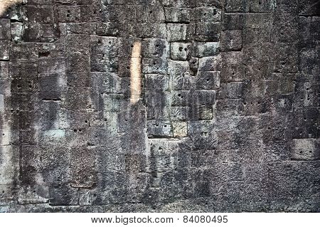 Texture Of Wall In Angkor