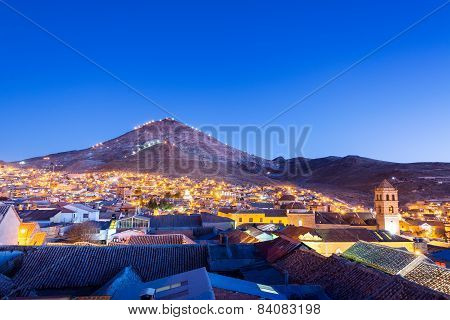 Potosi, Bolivia At Night