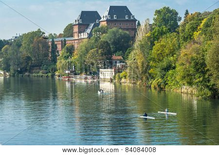 Castle along the Po River, Turin