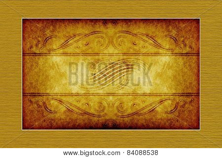 Yellow-brown Victorian Style  Paper