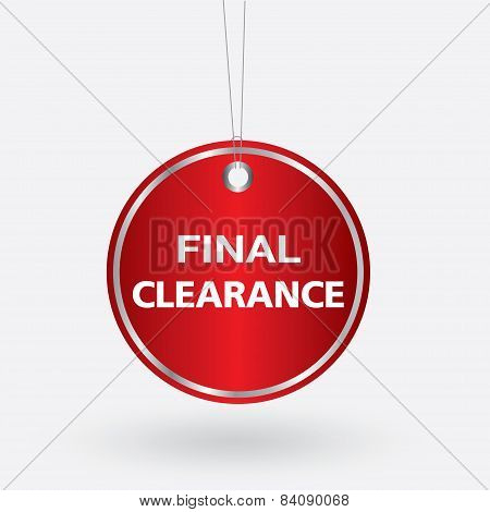 red oval final clearance