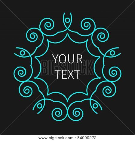 Vector of abstract frames and logo templates in line style