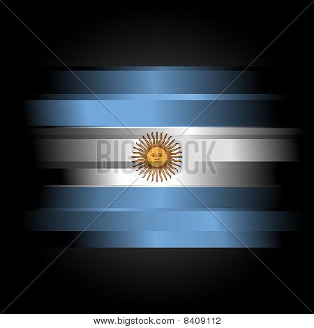 The Abstract Flag Of Argentina On Black Background
