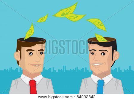 Businessmen Exchanging Money Ideas
