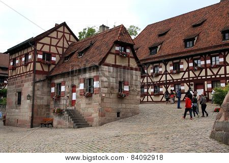 Nurnberg, Germany - July 13 2014.view From Houses In Kaiserburg Imperial Castle In Nuremberg, German