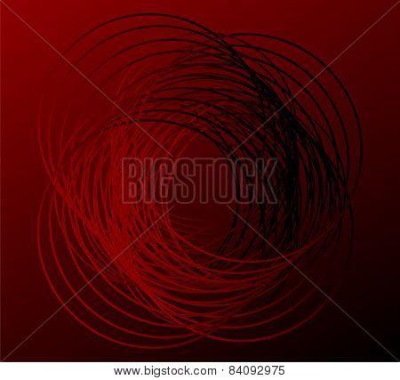 Dark Round Background red